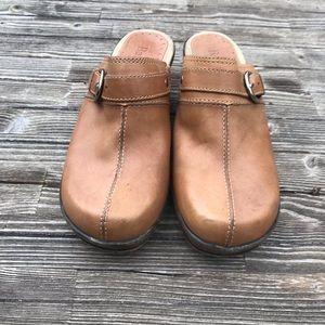 🌵 Tan Leather LEONA Bass Clogs/Mules SZ 7M